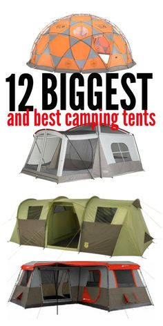 Camping is a family activity. But what if you have a large family that doesn't fit in a traditional tent? Check out these large, totally awesome, family size tents!