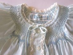 Vintage Smocked Baby Dress with Hand Embroidery by JeepersKeepers