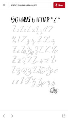 "50 ways to letter ""Z"" #lettering #handlettering"