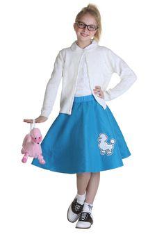 """WAIST 35/""""-42/"""" L25/"""" 7-Pcs Adult AQUA BLUE Poodle Skirt Outfit SIZE Large"""