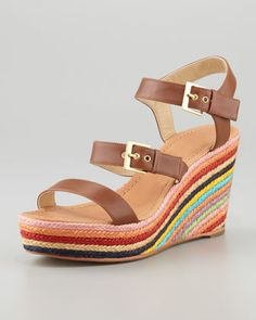 darla mid-wedge sandal by kate spade new york at Neiman Marcus.