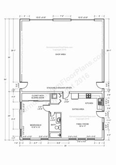 40x60 Shop With Living Quarters Floor Plans Pole Barn With Living