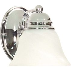 @Overstock - The polished chrome vanity light from Empire 1 is the perfect upgrade to your bath or vanity decor. Featuring a stunning high polish chrome and a white alabaster glass shade, this fixture will add a contemporary shine and feel to any room.http://www.overstock.com/Home-Garden/Empire-1-Light-Polished-Chrome-With-Alabaster-Vanity/6796738/product.html?CID=214117 $27.99