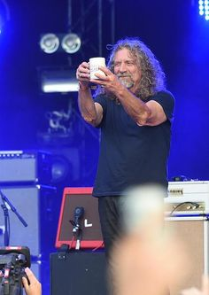 Robert Plant performing at Bonnaroo Music Festival on Sunday