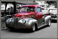Customized Studebaker truck with what look like '39 Merc type headlights.  Like it!