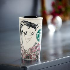 Starbucks® Double Wall Ceramic Traveler - Charlotte Ronson, 12 fl oz. $14.95 at StarbucksStore.com