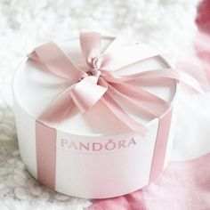 Pandora • gift box • ribbon • pink • lovely • beautiful • cute ♡@lozzyprincess♡