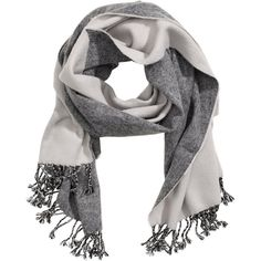 Jacquard-weave Scarf $12.99 (€12) via Polyvore featuring accessories, scarves, gray shawl, grey scarves, gray scarves, grey shawl and short scarves