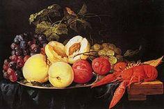 Still life with fresh fruit and seafood - Jan Davidsz. de Heem