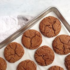 Nothing more comforting than these sugar-sparkled chewy molasses cookies from @constellationinspiration: Combine 3/4 c. butter, 1 c. sugar, 1 egg, 1/4 c. molasses—then add 2 c. flour, 2 tsp. baking soda, 1 tsp. cinnamon, and 1/2 tsp. each ginger, cloves, and salt. Make into small balls, roll in sugar, and bake at 375° for 8 to 10 min.! Show us your best back-pocket baked goods, include a recipe in the caption, and tag 'em #f52contest for a chance to win a copy of our new Baking book!