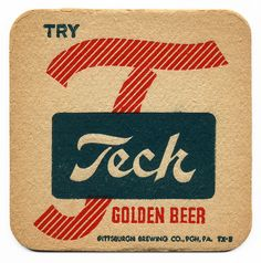 Tech Beer. Pittsburgh Brewing Co., Pittsburgh, PA