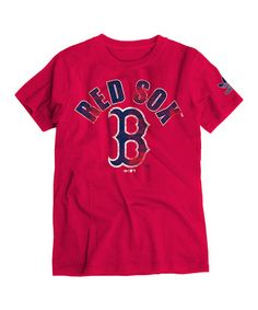 Take a look at this Red Red Sox Supersoft Tee - Boys by adidas on #zulily today!