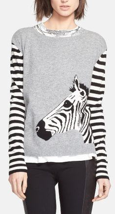 Zebra cashmere sweater? Don't mind if we do....