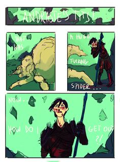 """systlin: """"paticmak: """"ok ok… have a fix it comic… choose what you wanna believe in… first part """" """"A month later"""" """"Hawke kicks in door"""" """"FENRIS YOU'LL NEVER GUESS WHAT I KILLED! THE HUGEST FUCKIN'..."""