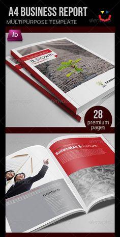 GraphicRiver Annual Report Design Template