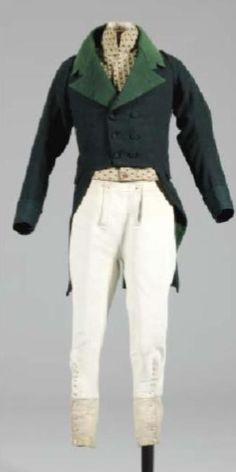 French gentleman's ensemble, early 19th century. If you think about it, the french men invented the skinny pants.