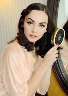 vintage makeup | Tumblr | Marilyn M. Stunning vintage, lovely use of a light pink instead of a red lip.