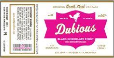 Jolly Pumpkin - North Peak Dubious Black Chocolate Stout