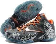sale retailer 50287 6e7b1 Nike Lebron 11 XI Orange Grey Kobe Shoes, Shoes Sneakers, Air Jordan Shoes,