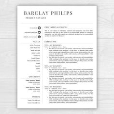 Professional Resume Template  Cv Template Cover Letter  Hi There
