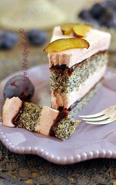Mohn- Zwetschgen- Torte