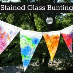 http://artfulparent.com/2012/06/beautiful-stained-glass-bunting.html