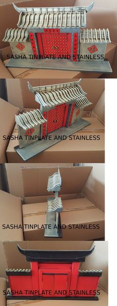Other Vintage Tin Toys 736: China Chinese Temple Wall Tin Tinplate Vintage Metal Architectural Model Handmad -> BUY IT NOW ONLY: $99 on eBay!