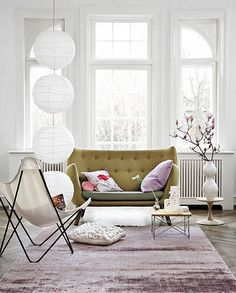 This trio of paper lanterns would be cool hanging in a corner of a bedroom or family room