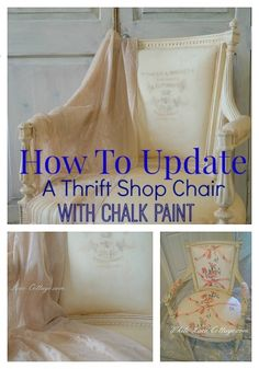 How To Paint A Chair With Chalk Paint - White Lace Cottage