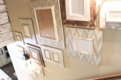 Stairwell Gallery Group of Distressed Frames in by deltagirlframes