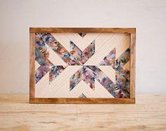 "Modern Wood Wall Art - 14"" x 10"" x 1.5"" - Mixed Colors"