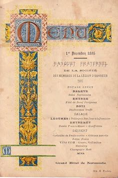 jamaica byles: Ephemera: Antique menus