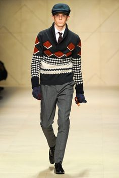 burberry mens winter fashion   ... Sweater from Burberry Prorsum's Men's Fall/Winter 2012-2013 Collection