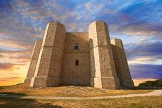 The medieval octagonal Castel Del Monte, built by Emperor Frederick II in the 1240's near Andria in the Apulia southern Italy | Photos Gallery