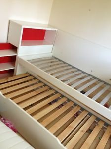 Ikea Flaxa Twin Bed With Trundle And Storage Headboard New Squad Bunkroom Pinterest Bedroom Frame