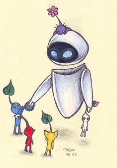 Eve meets the Pikmin by ~who-stole-MY-name on deviantART