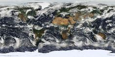 image of the Earth, based on observations from the Moderate Resolution Imaging Spectroradiometer (MODIS), a sensor aboard the Terra Satellite, courtesy of NASA. Photo by NASA via Earth And Space, Satellite View Of Earth, Earth Day 2013, Les Satellites, Earth Surface, Vital Signs, Plant Growth, Akita, Global Warming
