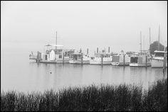 The Murray River, Goolwa has many small harbors for boaties
