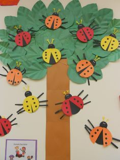 ladybug bulletin boards | via jaimie salonga