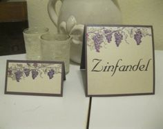 handmade wine themed cards    50- WINE COUNTRY themed grape place cards, escort cards, and table ...