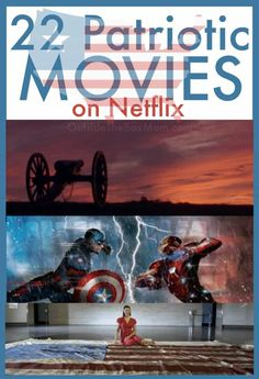 These patriotic movies on Netflix are great to watch during Memorial Day weekend, July (Independence Day) holiday, or any time of year. Family Movie Night, Family Movies, Netflix Movies, Netflix List, Holiday Traditions, Family Traditions, Memorial Day Movie, 4th Of July Movies, Patriotic Movies