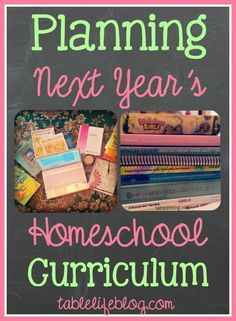 GOOD STUFF! - Homeschool Curriclum Planning (+ Planning Printable) - Life at the Table