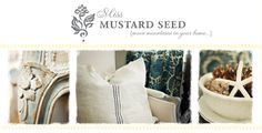 Miss Mustard Seed {move mountains in your home...}