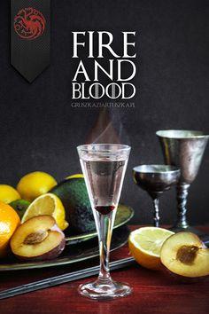 """Drinki inspirowane powieścią oraz serialem """"Gra o tron"""" (""""Game of thrones""""). Mam nadzieję, że się Wam spodobają!"""
