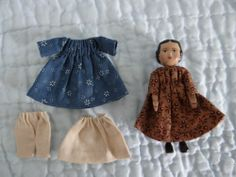 A Very Small Hitty Doll by Gail Wilson with Extra Clothes | eBay