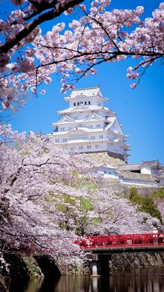 "japan-overload: ""by peiminwu "" Beautiful Places In Japan, Beautiful World, Yuumei Art, Landscape Photography, Nature Photography, Cherry Blossom Japan, Japan Landscape, Japanese Castle, Aesthetic Japan"