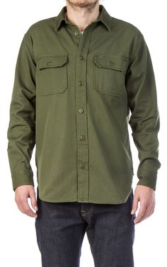 CULTIZM - RAW DENIM. BEST BRANDS. - Drill Chino Shirt Olive Filson Drill Chino Shirt Olive 703060340597-olive
