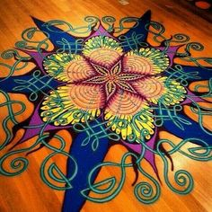 Cool floor painting would make a great tattoo!