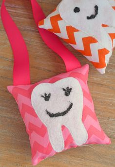 DIY Tooth Fairy Pillow tutorial. Create this with or without the hanging ribbon. Cute sewing idea! #GKAS #IC (ad)
