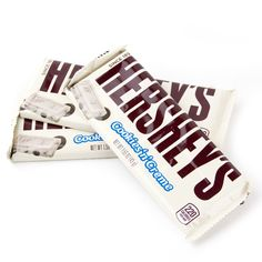 Buy and Save on Cheap Hershey's Cookies n Cream Bars - at Wholesale Prices. Offering a large selection of Hershey's Cookies n Cream Bars - Cheap Prices on all Bulk Nuts, Bulk Candy & Bulk Chocolate. Hershey Chocolate, Chocolate Lovers, Chocolate Desserts, Honey Chocolate, Hershey's Cookies N Cream, Chip Cookies, Chocolates, Hershey Cookies, Shopping